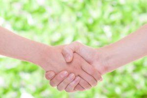 『握手の効用!?』